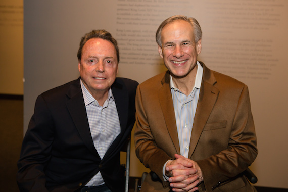 Pictured (L-R): BMI's Jody Williams and Texas Governor Greg Abbott.