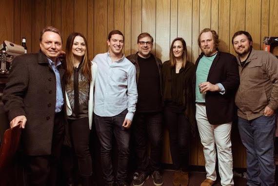 Photo (L-R): Jody Williams (BMI), Natalie Hemby, Andrew Cohen (Suit Music), Barry Dean, MaryAnn Keen (Ten Ten Music/Nettwerk Music), Luke Dick, Mason Hunter (BMI)