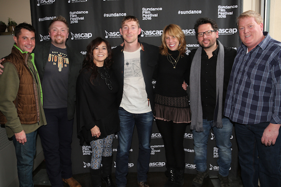 Pictured (L-R): ASCAP's Michael Martin, Josh Osborne, ASCAP's Loretta Muñoz, Ashley Gorley, The Bluebird Cafe's Erika Wollam-Nichols, Chris DeStefano and ASCAP's Mike Sistad. Photo: ASCAP's Erik Philbrook