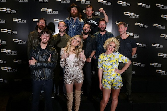 Pictured. Back row: Brothers Osborne. MIddle row: Old Dominion. Front row: Chris Janson, Kelsea Ballerini, Cam. Photo: Sara Kauss