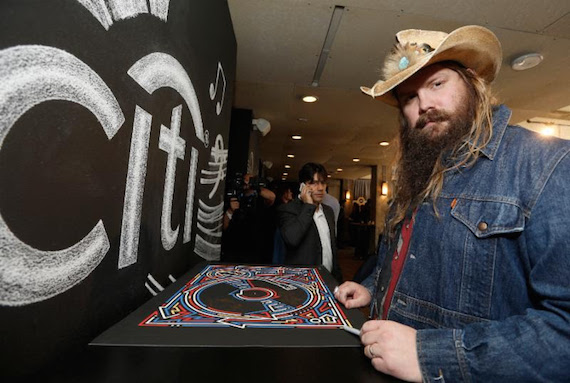 Chris Stapleton at Universal Music Group: Lucian Grainge's 2016 Artist's Showcase presented by American Airlines and Citi at the Theatre at the Ace Hotel on Sunday, Feb. 14, 2016 in Los Angeles. (Photo: Eric Charbonneau/Invision for Citi/AP Images)