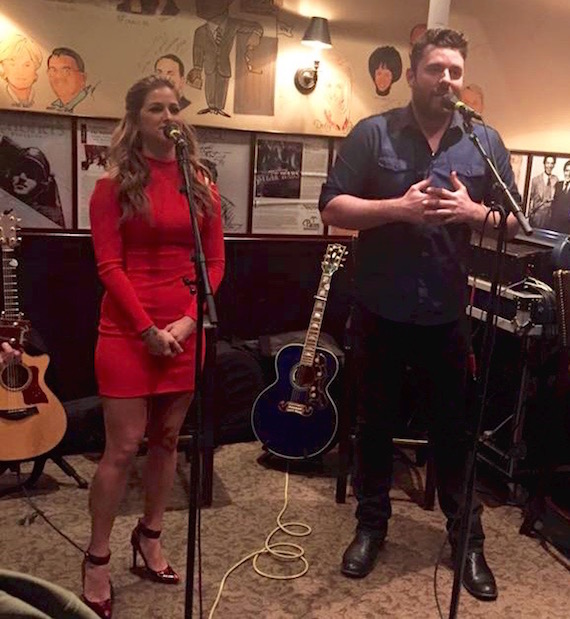 "Pictured (L-R): Cassadee Pope welcomes surprise guest Chris Young to duet on ""Think Of You."""