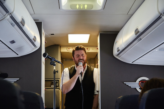 RCA Records' Chris Young gives surprise Live at 35® inflight performance on Southwest Airlines' inaugural flight of Tennessee One.