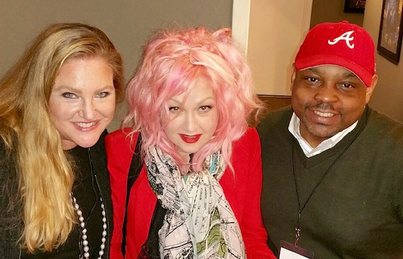"(L-R): Whitney Daane, SVP of Creative, Kobalt Music Publishing Nashville; Cyndi Lauper, singer-songwriter, member of Kobalt Music Publishing; Al ""Butter"" McLean, SVP of Creative at Kobalt Music Publishing (Atlanta)."