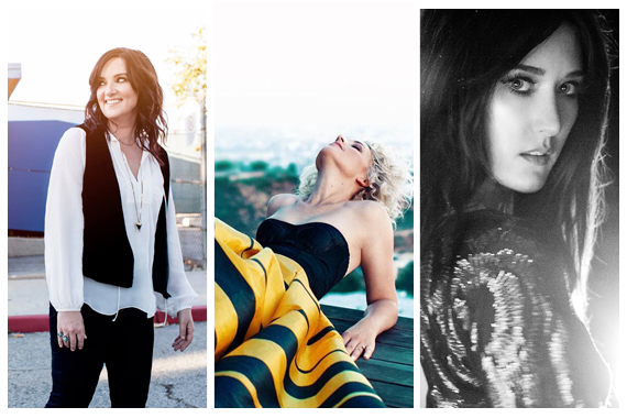Pictured (L-R): Brandy Clark, Cam, Aubrie Sellers