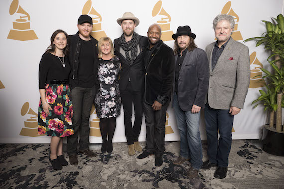 Pictured (L-R): Recording Academy Nashville Chapter Executive Director, Alicia Warwick; GRAMMY® nominee Eric Paslay; The Recording Academy South Regional Director, Susan Stewart; GRAMMY nominee Charles Kelley; Recording Academy Nashville Chapter President, Shannon Sanders; Recording Academy Board of Trustees Chair Emeritus, George J. Flanigen IV; and Recording Academy Nashville Chapter Trustee, Daniel Hill.