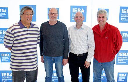 Newly-elected IEBA Board Directors Scott Pang (ICM Partners), Adam Kornfeld (Artist Group International), Eric Bresler (AEG Facilities), and Brad Garrett (Police Productions).