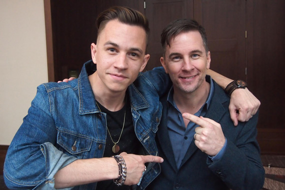 Justin Flom (L) with iHeart Country Brand Coordinator Gator Harrison (R).