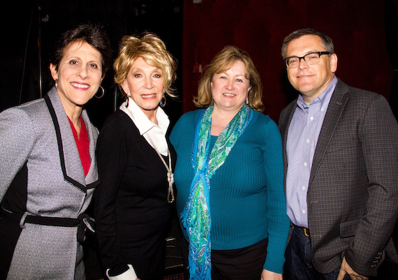Pictured (L to R):  Debbie Linn (Leadership Music Exec. Dir), Jeannie Seely, Shelia Shipley Biddy (SOURCE President), Dan Rogers (Director of Marketing – Grand Ole Opry)   Photo credit: Denise Fussell