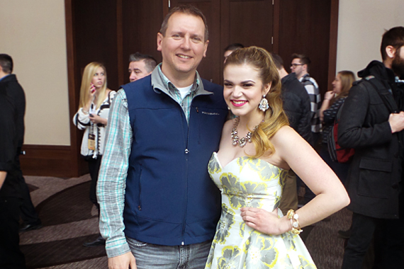 MusicRow Chart Director Troy Stephenson (L) with Macy Martin.