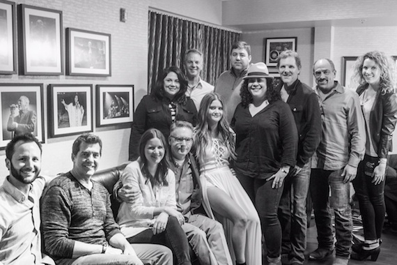 Maren Morris and Sony Nashville staff
