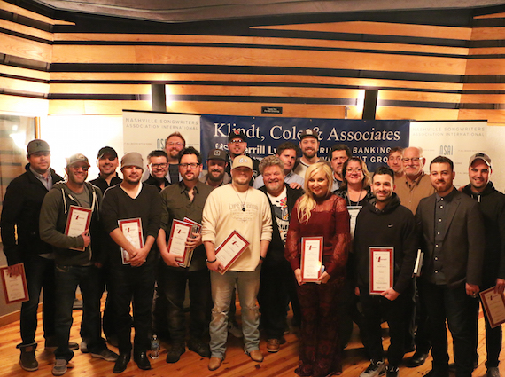 Songwriters and their #1 plaques