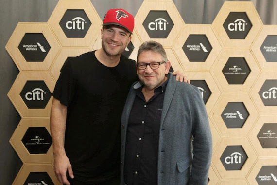 Sam Hunt and Lucian Grainge CBE, Chairman & Chief Executive Officer of Universal Music Group. Photo: Eric Charbonneau/Invision for UMG/AP Images.