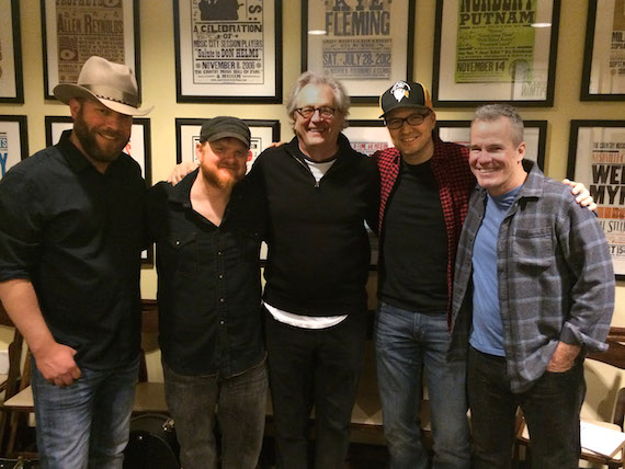 Pictured are (L-R): Jeff Hyde, Jeremy Spillman, Country Music Hall of Fame and Museum CEO Kyle Young, Luke Laird, and Casey Beathard. Photo: Abi Tapia, Country Music Hall of Fame and Museum