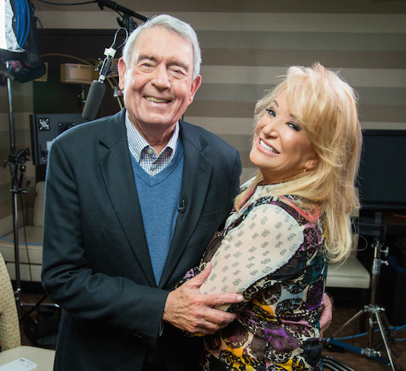 Pictured (L-R): Dan Rather, Tanya Tucker.