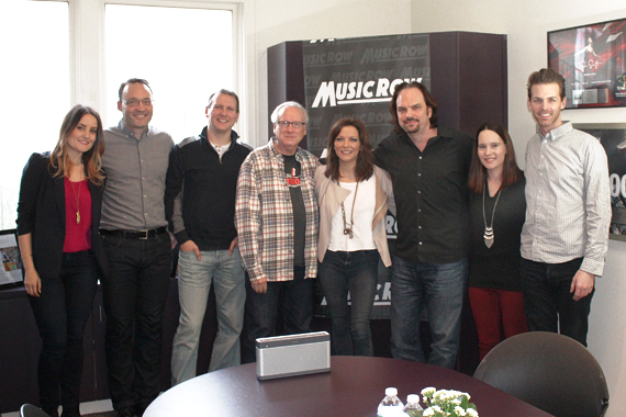 Pictured (L-R): Molly Hannula, Craig Shelburne, Troy Stephenson, Robert K. Oermann, Martina McBride, Sherod Robertson, Jessica Nicholson, Eric T. Parker