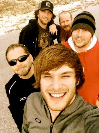 Pictured (Front to back): Michael Tyler, artist, Reviver Records; Michael Knox, Jaron Boyer, Brandon Kinney, Jeffrey East.