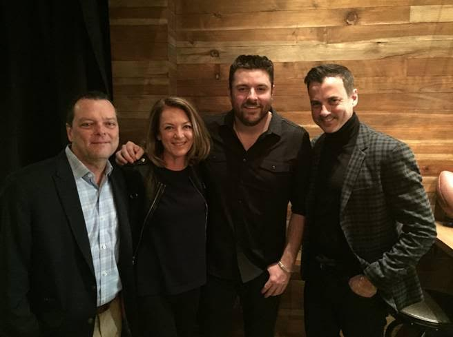 Pictured (L-R): John Kilgo, VP of Label Relations, Cumulus; Suzanne Grimes, President, Westwood One Division, EVP Corporate Marketing, Cumulus; Chris Young; Tommy Page, SVP Brand Partnerships, NASH Cumulus Media & Westwood One