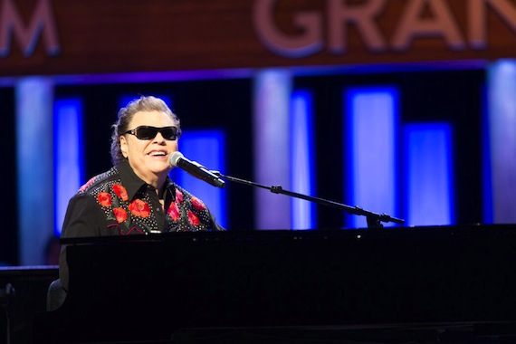 Ronnie Milsap performs at the Grand Ole Opry on Feb. 12, 2016, for the 40th anniversary of his membership. Photo: Chris Hollo.