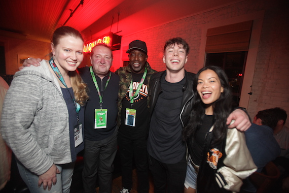Pictured (L-R): SESAC's Erin Collins, John Sweeney and Trevor Gale, artist/songwriter Barns Courtney and SESAC's Jamie Dominguez.