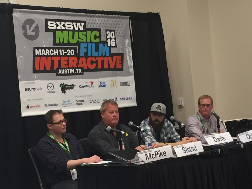 ASCAP's Mike Sistad (second from left) on SXSW panel