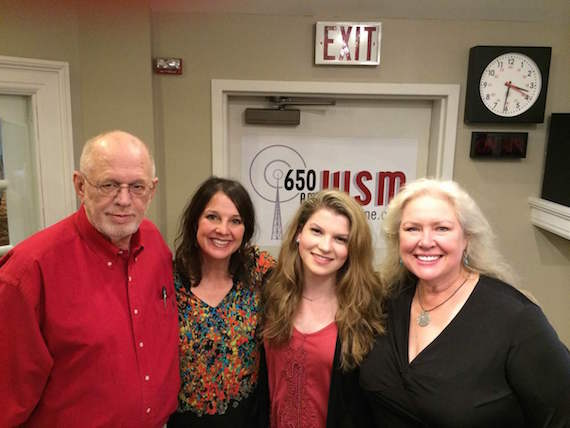 Pictured (L-R): Tim Riley, Industry Consultant; Nan Kelley, 650 AM WSM; Allie Louise; Devon O'Day, 650 AM WSM.