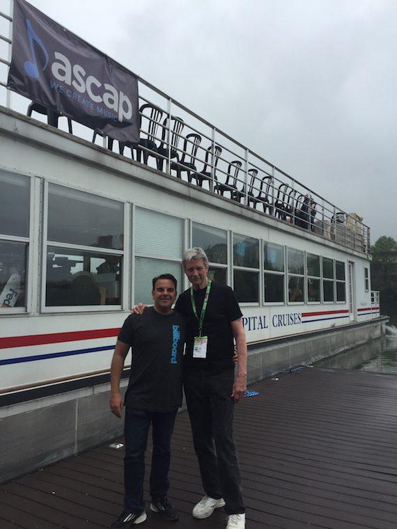 Billboard's Joe Maimone and ASCAP's Ralph Murphy at ASCAP Boat Cruises