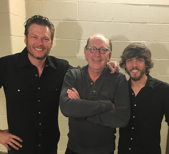 Pictured (L-R): Blake Shelton, John Esposito, Chris Janson.