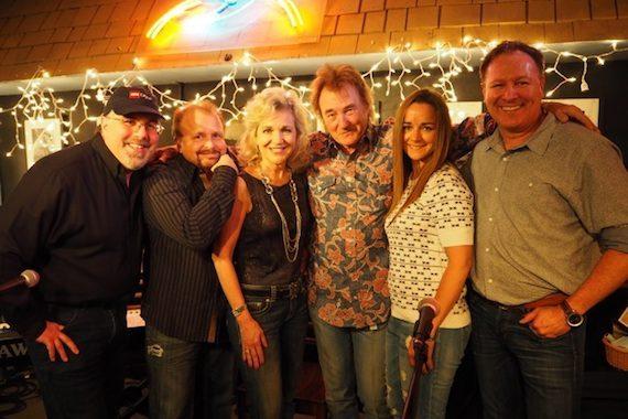 Pictured (L-R): Jimmy Nichols, Frank Myers, Lisa Harless, Eddy Raven, Heather Hoilland and Tim Nichols. Photo: Celina Lunsford