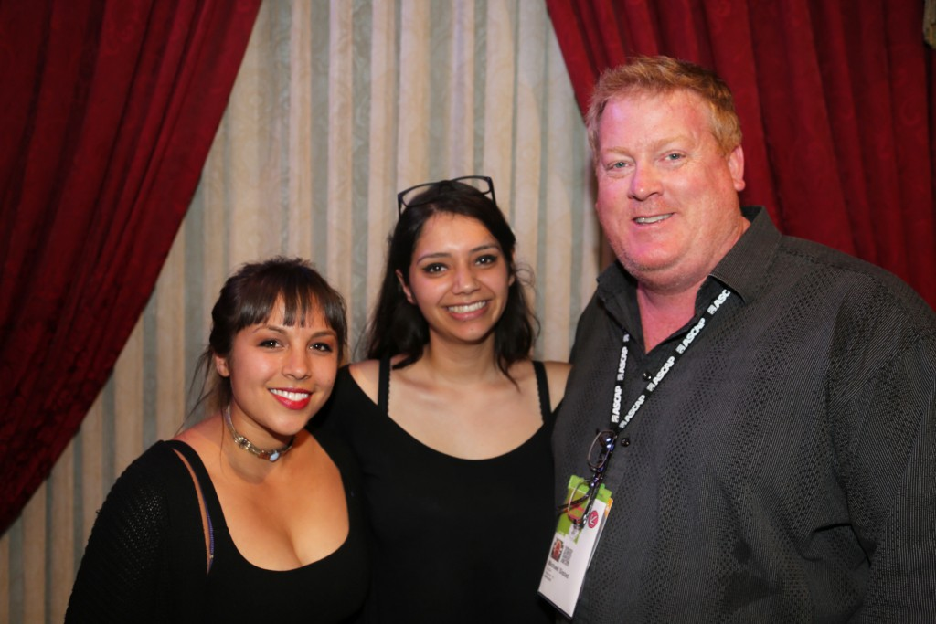 L-R ASCAP's Maura Duval-Angelica Garcia-ASCAP's Mike Sistad at ASCAP Presents at The Driskill