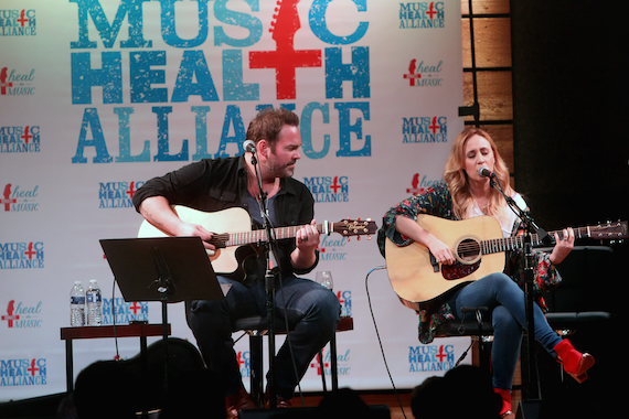 Pictured (L-R): Lee Brice, Jessi Alexander. Photo: Angela Talley