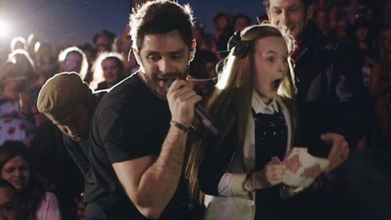Thomas Rhett wows fan during performance at the C2C Festival in Australia. Photo: Hunter Ney