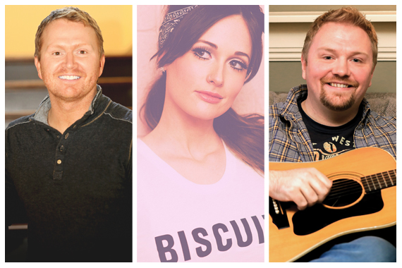 Pictured (L-R): Shane McAnally, Kacey Musgraves, Josh Osborne