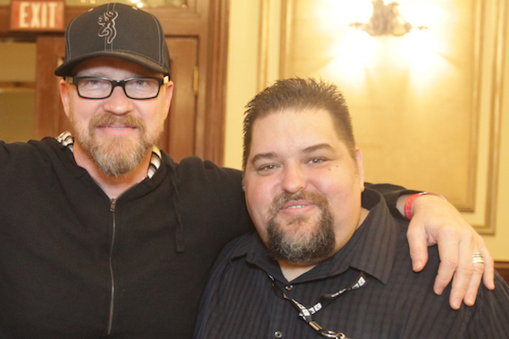 Artist/songwriter Anthony Skinner visits with SESAC's Tim Fink.