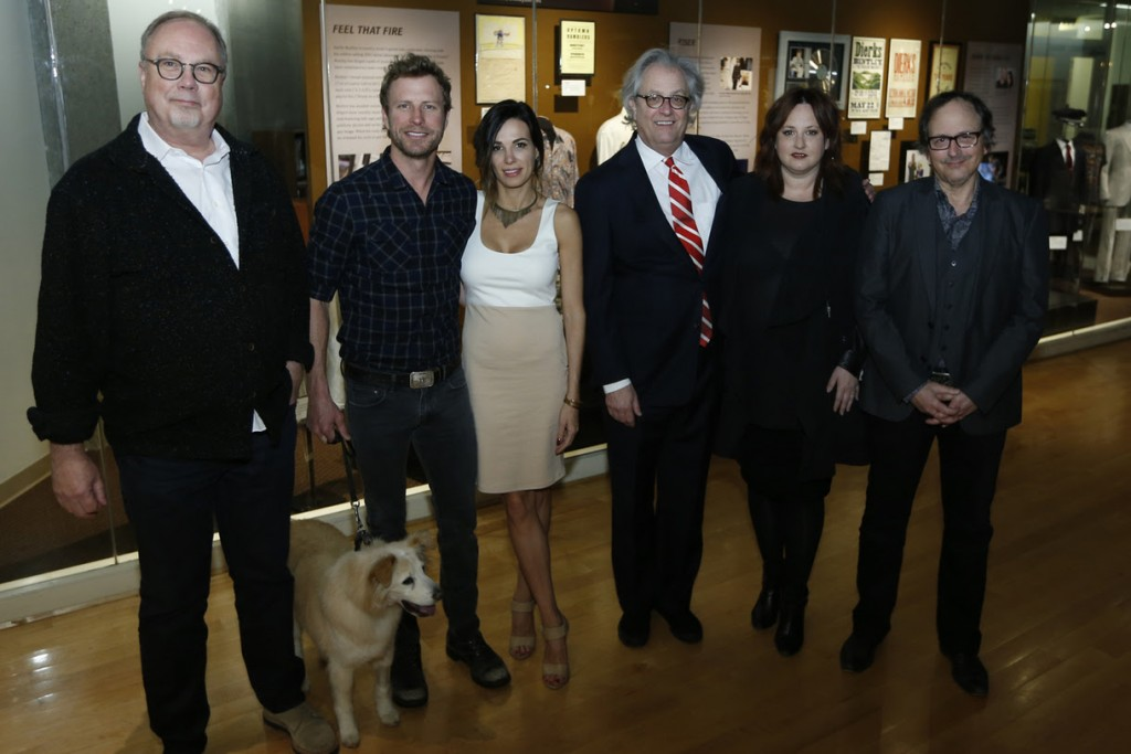 Pictured are (L-R): UMG Nashville's Mike Dungan, Jake, Dierks Bentley, Cassidy Black, Country Music Hall of Fame and Museum CEO Kyle Young, Red Light Management's Mary Hilliard Harrington, and Country Music Hall of Fame and Museum's Mick Buck. Photo: Donn Jones