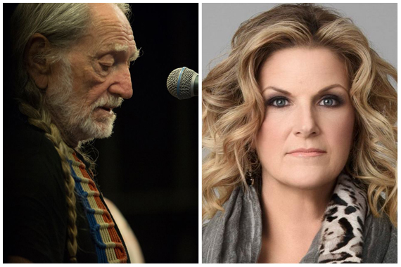 Pictured (L-R): Willie Nelson, Trisha Yearwood