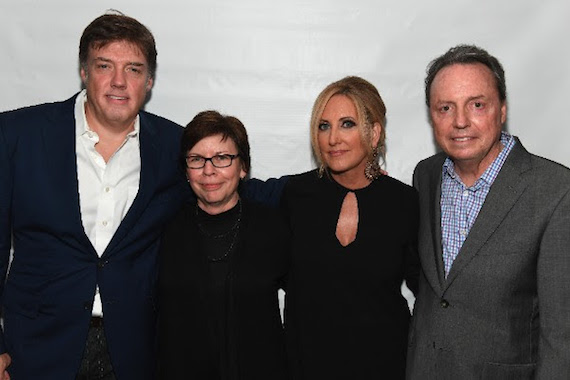 Pictured (L-R): Frank Liddell, Robin Palmer [winner], Lee Ann Womack, Jody Williams [winner]. Photo: Jason Davis, Getty Images