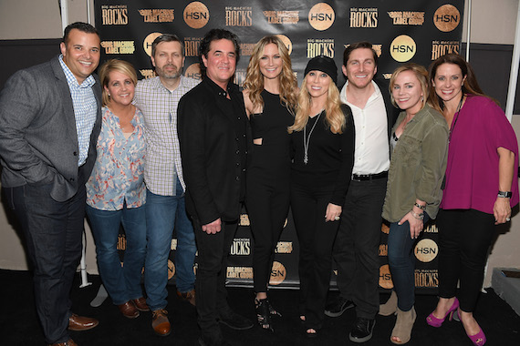 Pictured (L-R): Adam Vasallo, Director of Entertainment & Marketing, HSN; Kelly Rich, SVP of Sales, Marketing and Interactive, BMLG; Andrew Kautz, COO, BMLG; Scott Borchetta, President and CEO, BMLG; Jennifer Nettles; Sandi Spika Borchetta, SVP Creative and Music Has Value; BMLG; John Zarling, SVP Partnership Marketing & Promotion Strategy, BMLG; Jackie Campbell, Director Strategic Partnership, BMLG; Jennifer Conner, EVP of TV Content and Programming, HSN. Photo: Jason Davis