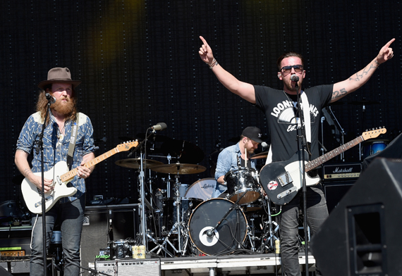 """""""LAS VEGAS, NEVADA - APRIL 02: Musicians John Osborne (L) and TJ Osborne of the Brothers Osborne perform onstage at the 4th ACM Party for a Cause Festival at the Las Vegas Festival Grounds on April 2, 2016 in Las Vegas, Nevada. (Photo by Rick Diamond/Getty Images for ACM)"""""""