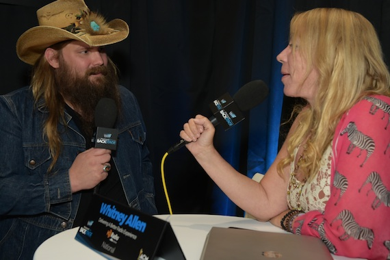 Chris Stapleton and Whitney Allen, host of the Westwood One-syndicated The Big Time with Whitney Allen.