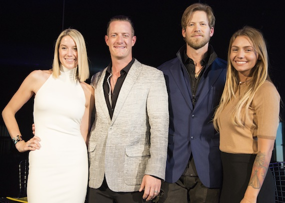 Pictured (L-R): Hayley Stommel-Hubbard, Tyler Hubbard, Brian Kelley, Brittney Kelley. Photo: Justin Mrusek