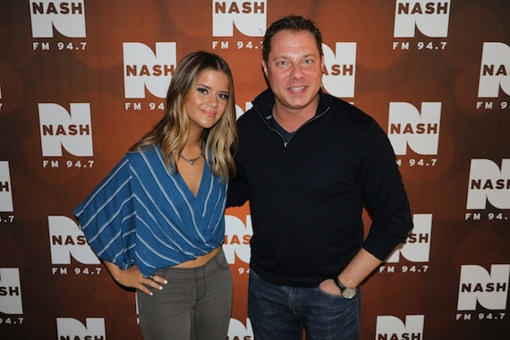 Maren Morris greets NASH FM 94.7 Program Director John Foxx