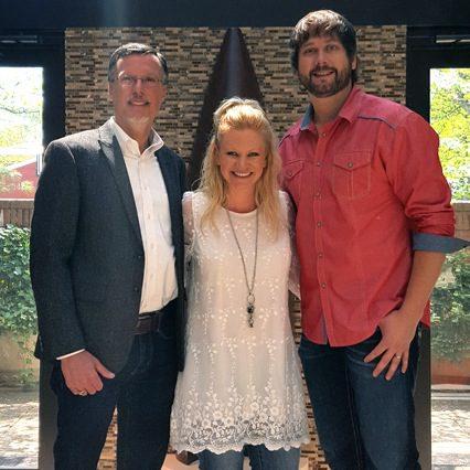 Pictured (L-R): Mike Mouret, President, Studio Gold Nashville; Brandi Simms, Sr. Director of Membership, CMA; Scott Brantley