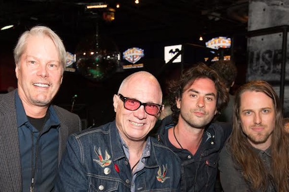 Pictured (L-R): Randy Wachtler, President & CEO, Warner/Chappell Production Music; Greg Sowders, Sr. VP of A&R, Warner/Chappell; Jonathan Russell and Matthew Gervais of The Head and the Heart