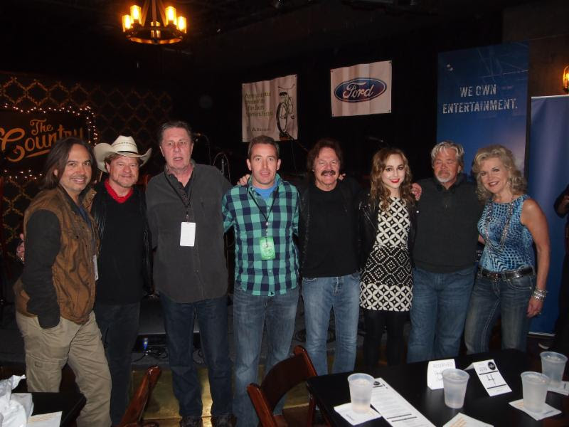 Pictured (L-R): James Slater, Paul Overstreet, NSAI's Bart Herbison, Regions Bank's Brian O'Meara, Tom Johnston, Lara Johnston, John Cowan and Regions Bank's Lisa Harless at The Country late show.