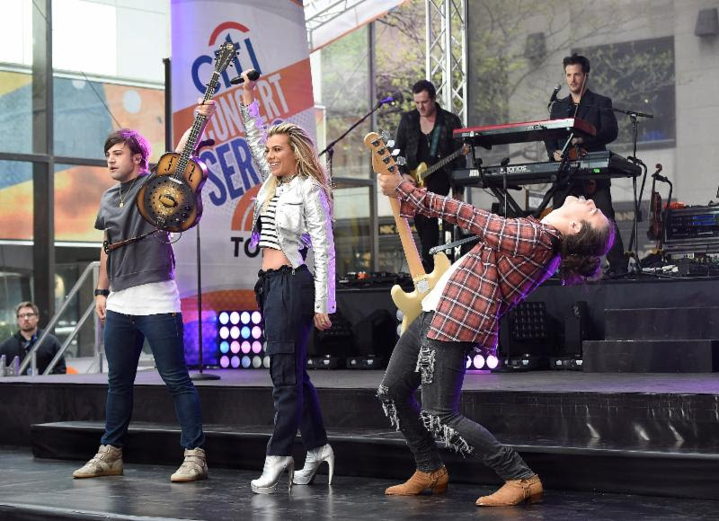 The Band Perry perform on NBC's Today's Citi Concert Series. Photo: Getty Images