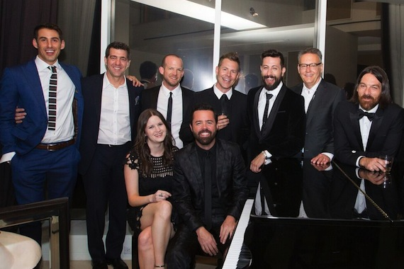 Pictured (Front Row, L-R): Taylor Lindsey, Sr. Director, A&R, Sony Music Nashville; Brad Tursi , Old Dominion; (Back Row, L-R) Will Hitchcock, Morris Higham Management; Ken Robold, EVP/COO, Sony Music Nashville; Whit Sellers, Trevor Rosen, and Matthew Ramsey of Old Dominion; Randy Goodman, Chairman & CEO, Sony Music Nashville; Geoff Sprung, Old Dominion. Photo: Meishach Moore