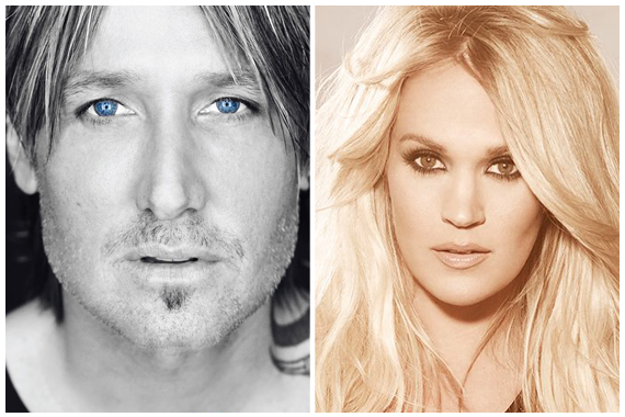 Pictured: Keith Urban, Carrie Underwood