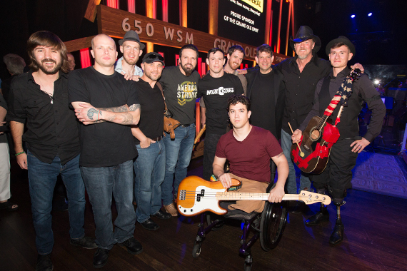 MusiCorps Wounded Warrior Band with Trace Adkins and Mark Wills. Photo: Chris Hollo
