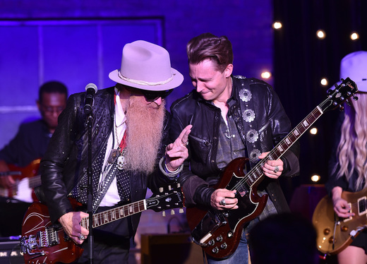 Billy Gibbons and Frankie Ballard. Photo: Getty Images